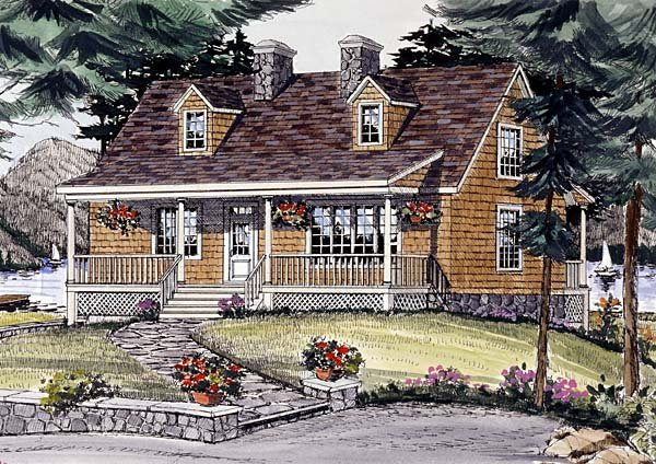 Cape Cod Country House Plan 69506 Elevation