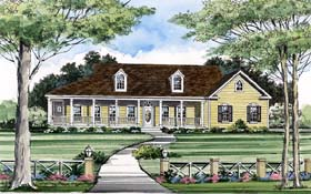 Country House Plan 69507 with 3 Beds, 2 Baths, 2 Car Garage Elevation