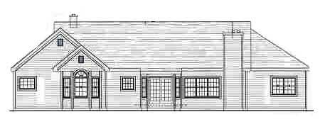 Country House Plan 69507 with 3 Beds, 2 Baths, 2 Car Garage Rear Elevation