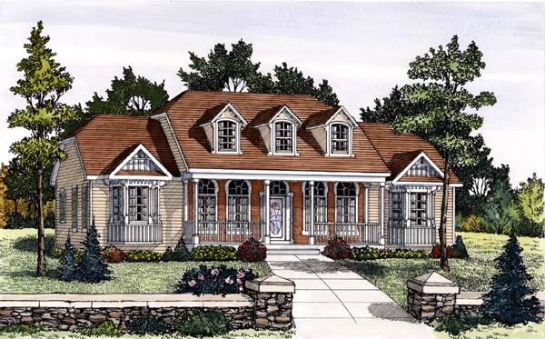 Cape Cod Country House Plan 69508 Elevation