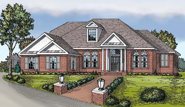 Colonial European Traditional House Plan 69509 Elevation