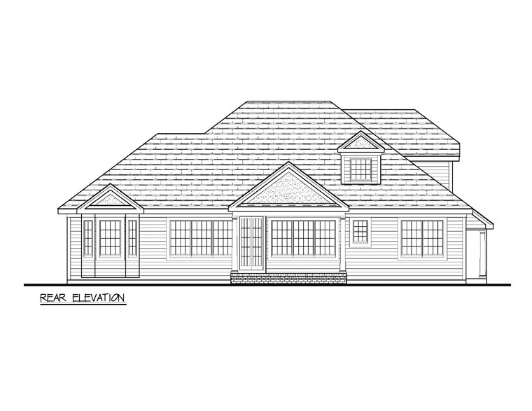 Colonial European Traditional House Plan 69509 Rear Elevation