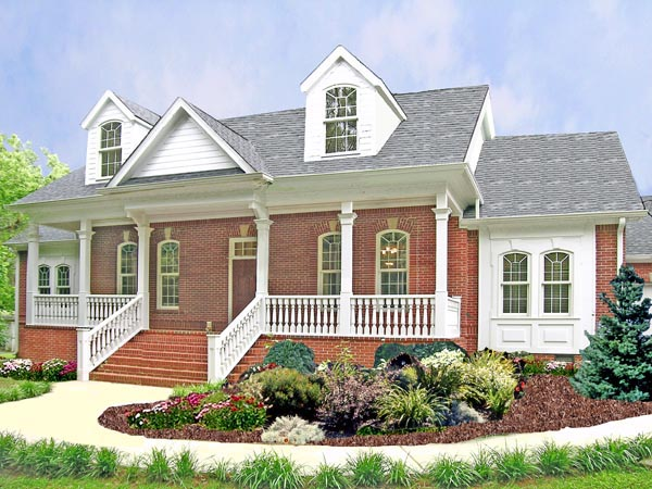 Cape Cod , Country House Plan 69512 with 3 Beds, 3 Baths, 2 Car Garage Elevation