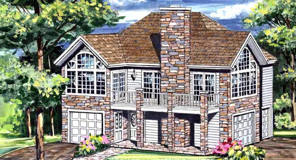 Traditional House Plan 69513 with 1 Beds, 1 Baths, 3 Car Garage Elevation