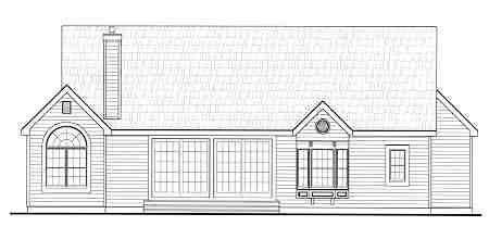 Victorian House Plan 69514 Rear Elevation