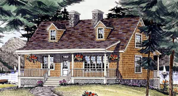 Cape Cod Country House Plan 69515 Elevation