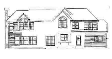 Traditional House Plan 69517 Rear Elevation