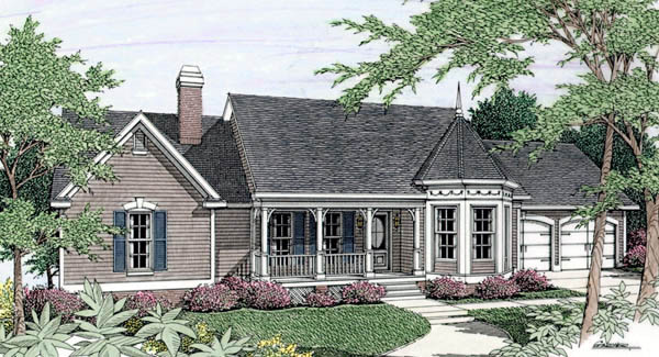 Country House Plan 69518 with 3 Beds, 3 Baths, 2 Car Garage Elevation