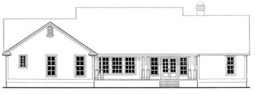 Country House Plan 69518 with 3 Beds, 3 Baths, 2 Car Garage Rear Elevation