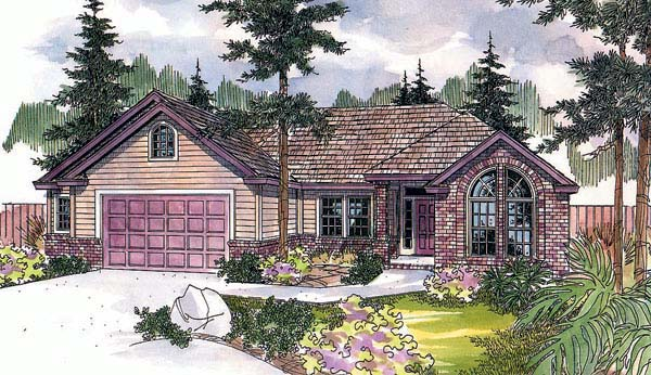 European House Plan 69565 Elevation