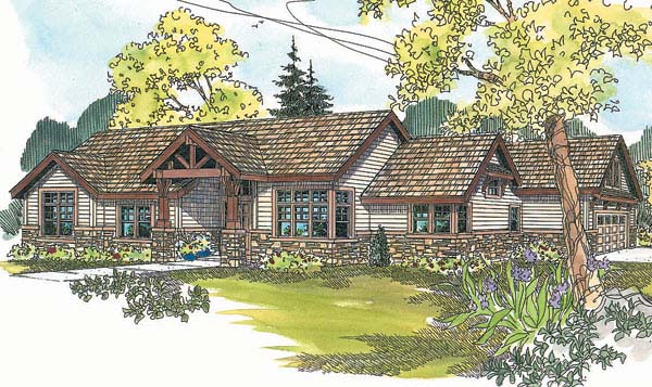 Ranch House Plan 69600 Elevation