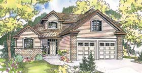 House Plan 69601 | Country Style Plan with 2093 Sq Ft, 3 Bedrooms, 3 Bathrooms, 2 Car Garage Elevation