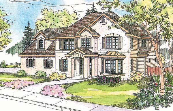 European House Plan 69605 Elevation