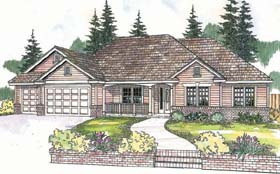 House Plan 69607 | Traditional Style House Plan with 2488 Sq Ft, 4 Bed, 3 Bath, 3 Car Garage Elevation