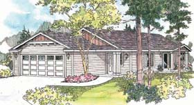Plan Number 69608 - 1317 Square Feet
