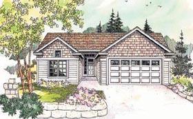 Ranch House Plan 69611 Elevation