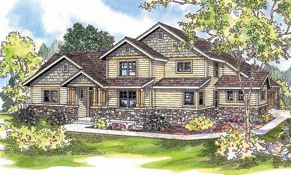 Craftsman House Plan 69613 Elevation