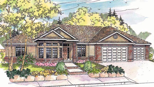 Ranch House Plan 69614 Elevation