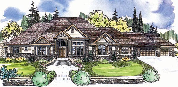 Tudor House Plan 69617 Elevation