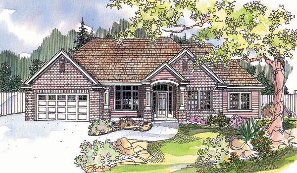 Traditional House Plan 69618 Elevation