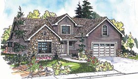 House Plan 69619 | Traditional Style Plan with 2016 Sq Ft, 3 Bedrooms, 3 Bathrooms, 2 Car Garage Elevation