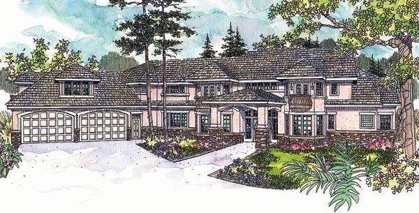 Southwest House Plan 69620 Elevation