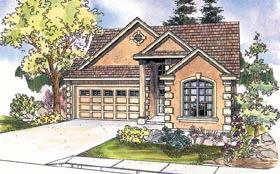 Traditional House Plan 69623 with 3 Beds, 3 Baths, 2 Car Garage Elevation