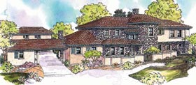 Southwest House Plan 69624 Elevation