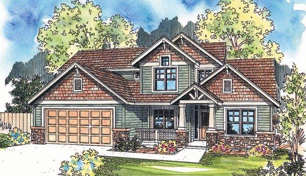 Craftsman House Plan 69625 Elevation