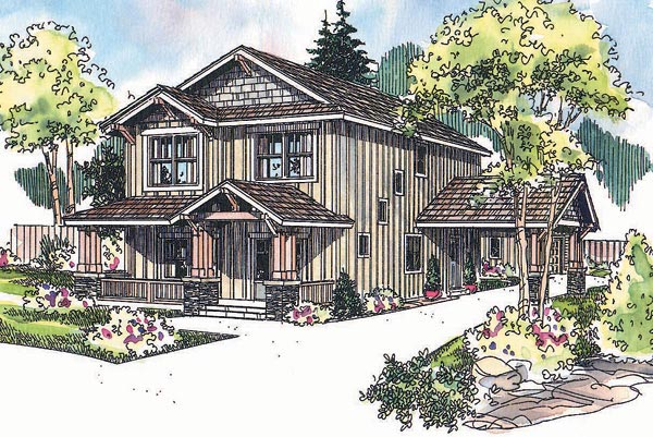 Craftsman House Plan 69626 with 3 Beds, 3 Baths, 2 Car Garage Elevation
