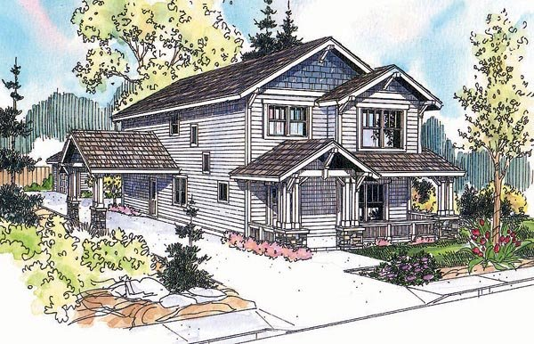 Country Craftsman Elevation of Plan 69627