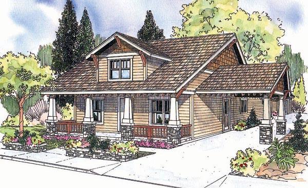 Bungalow Craftsman House Plan 69628 Elevation
