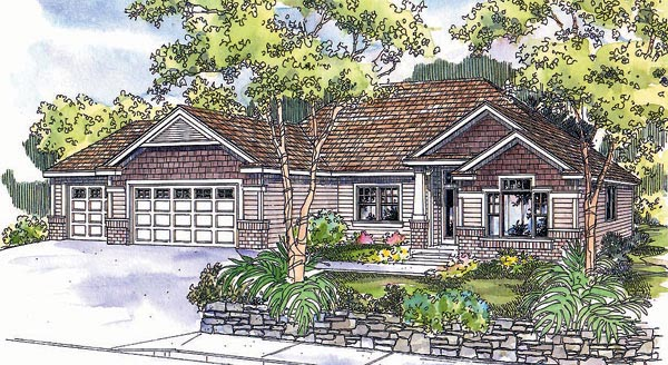 Craftsman Traditional House Plan 69630 Elevation