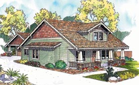 House Plan 69632 | Bungalow Craftsman Style Plan with 2343 Sq Ft, 3 Bedrooms, 2 Bathrooms, 2 Car Garage Elevation