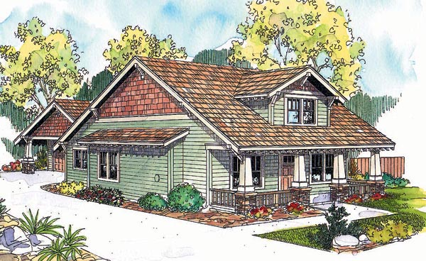Bungalow Craftsman House Plan 69632 Elevation