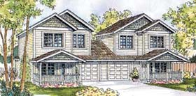 Traditional Multi-Family Plan 69650 Elevation