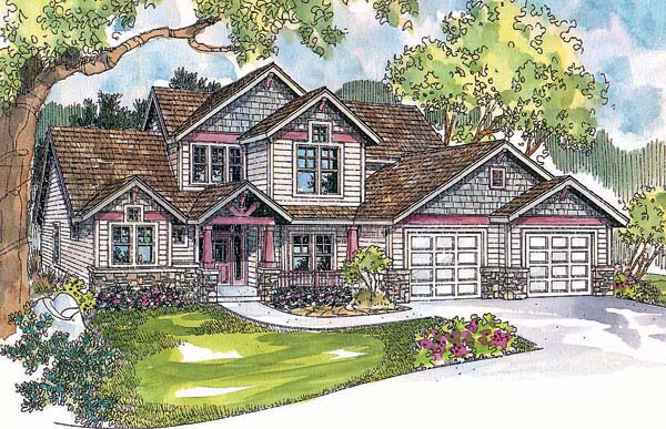 Craftsman House Plan 69659 Elevation