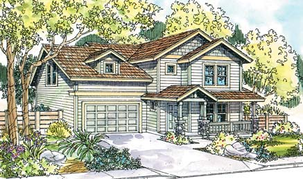 Country, Craftsman House Plan 69661 with 3 Beds , 1.5 Baths , 2 Car Garage Elevation