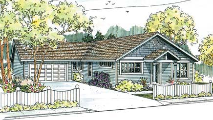 Ranch House Plan 69662 Elevation