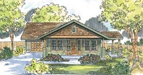Bungalow Craftsman House Plan 69667 Elevation