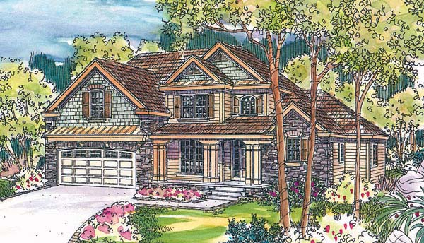 Craftsman House Plan 69671 with 3 Beds, 2.5 Baths, 2 Car Garage Elevation