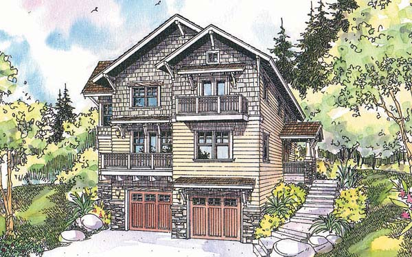 Craftsman House Plan 69674 Elevation