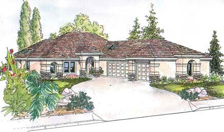 European House Plan 69677 Elevation