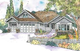 House Plan 69679 | Craftsman Style Plan with 2375 Sq Ft, 3 Bedrooms, 2.5 Bathrooms, 3 Car Garage Elevation
