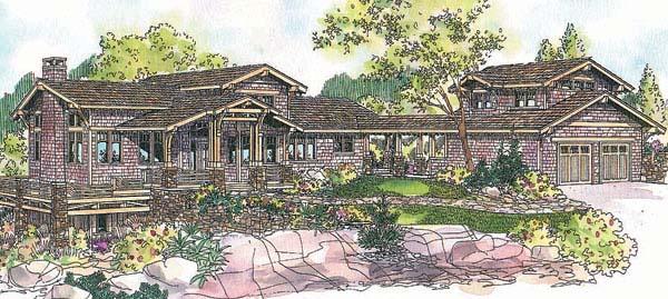 Craftsman House Plan 69680 Elevation