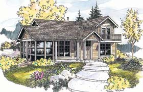 Traditional House Plan 69681 with 1 Beds, 1 Baths Elevation