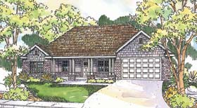 Traditional House Plan 69686 with 3 Beds, 2 Baths, 2 Car Garage Elevation