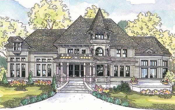 Victorian House Plan 69687 Elevation