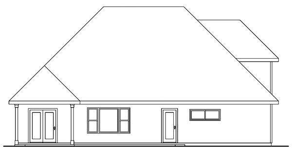 Craftsman House Plan 69688 Rear Elevation