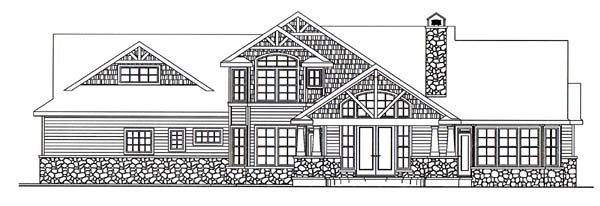 Craftsman House Plan 69689 Rear Elevation